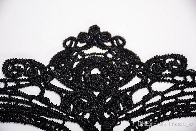 Sexy Black Fancy Dress Lace Venetian Face Mask Party Masquerade Masks Masquerade Ball Prom Halloween Costume fast shipping