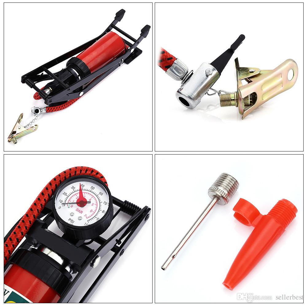 High Pressure Foot Pump for Car Tire Inflator Pump Foldable style Foot for Motor Bike Vehicle Auto Air Compressor