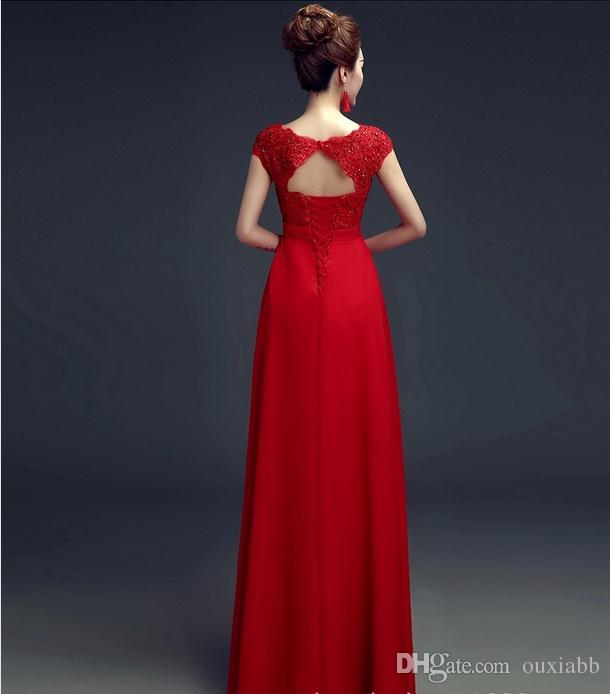 Long Prom Dress 2016 Long Red Evening Dresses Party Dinner Maternity Pregnant Female Plus Size V Neck Empire Elegant Evening Gown