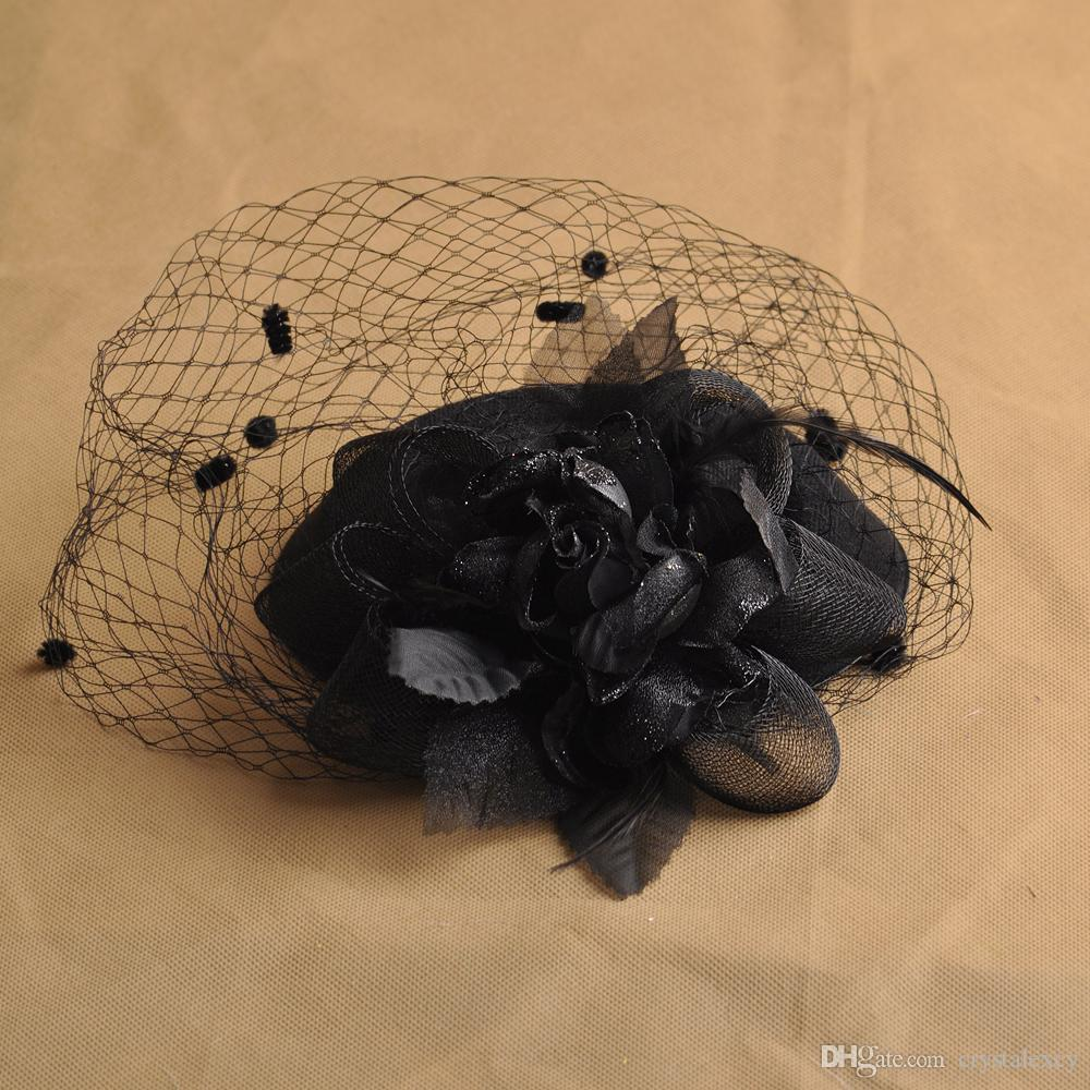 Fashion GIft Lady Handmade Headwear Fascinator Pillbox Hat Hair Clip Veil Feather Flower Wedding Proms Derby Fancy Dress Party