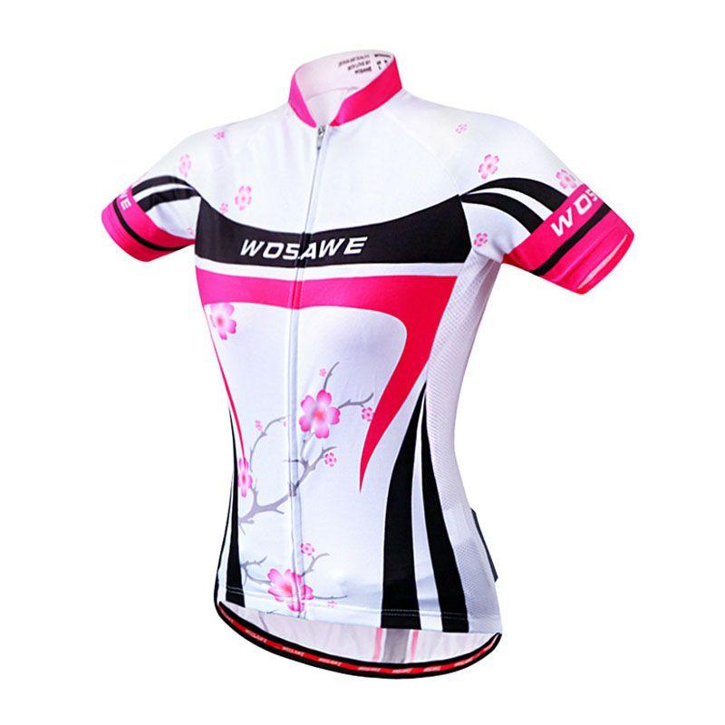 8339d6ba3 WOSAWE Women Cycling Jersey Breathable Short Sleeve Shirt MTB Bike ...