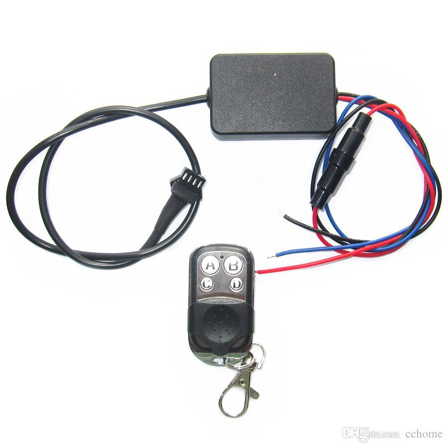 12in1 RGB Ses Kontrolü Motosiklet Siyah Esnek LED Şerit Işık Lambası NEON 4 Düğmeler RF Uzaktan Kiti