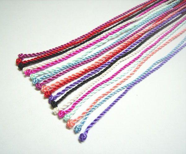 100 unids / lote seda Nceklace cordones resultados de la joyería para DIY artesanía joyería regalo 18 pulgadas WC8 envío gratis