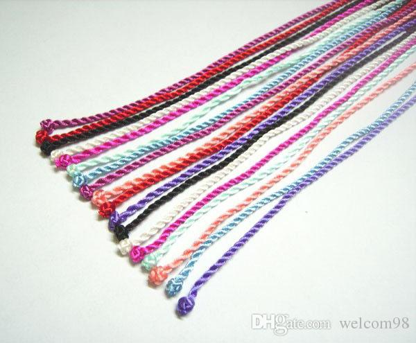 Silk Nceklace Cords Jewelry Findings For DIY Craft Jewelry Gift 18inch WC8