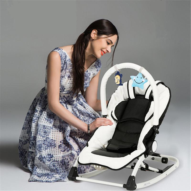 Fashion Electric Baby Rocking Chair, Multifunction Baby Rocker, Portable  Cradle With Music For 0~12 Months Kids Rocking Chair Upholstery Modern  Wooden ...