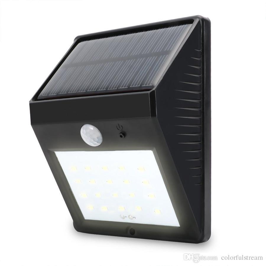 2019 20led Super Bright Solar Powered Wireless Outdoor Pir