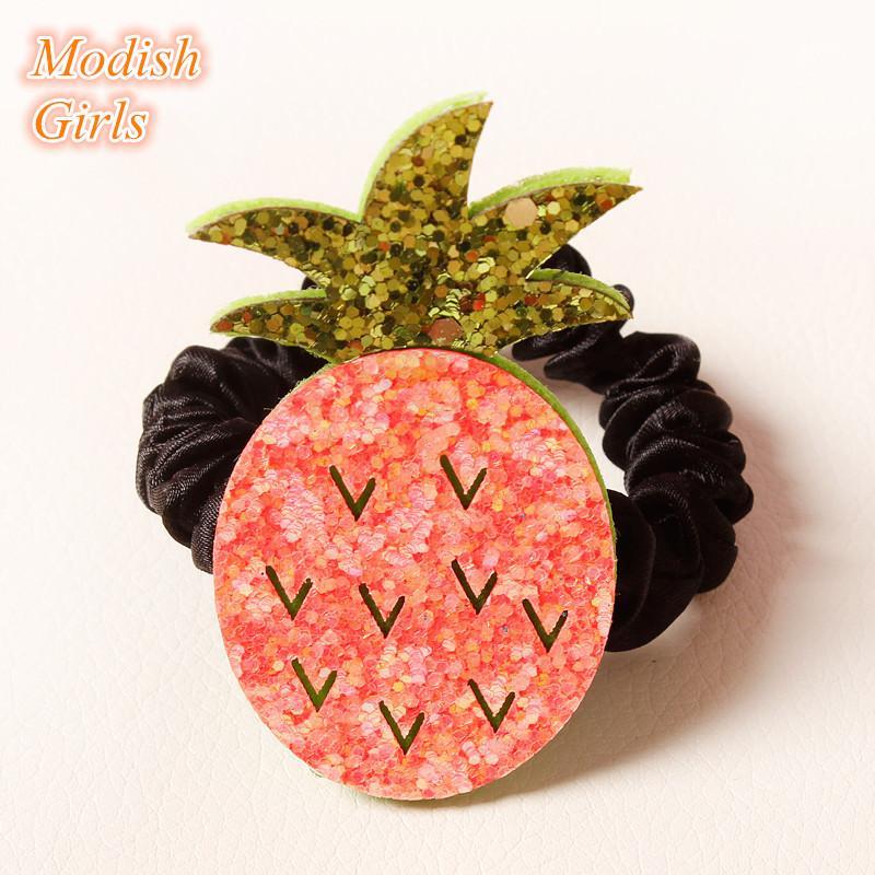 Glitter Felt Shape Hair Clips Fruit Food Design Watermelon Hair Ties Icecream Hairpins Pineapple Hair Grips Hairbands