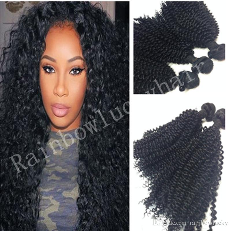 2018 Kinky Curly Hair Weave Black Deep Wave Synthetic Hair