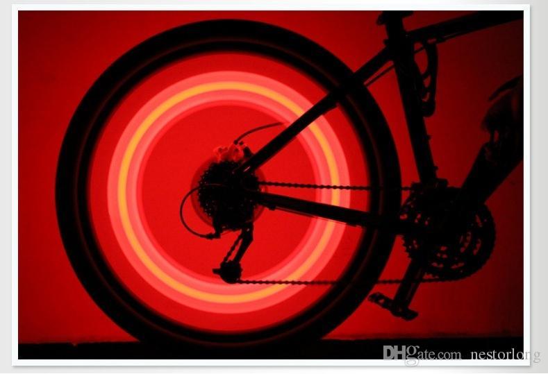 Vente chaude 4 couleur vélo vélo vélo parlé fil pneu pneu roue led lumière lampe