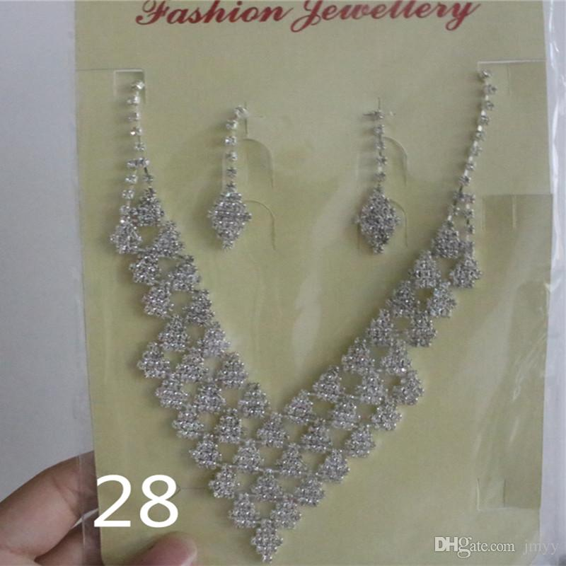 Large Stock Jmyy Jewelery Bride Jewelry Sets Earrings & Necklace Rhinestone Pearl Series For Women Wedding Banquet High Quality