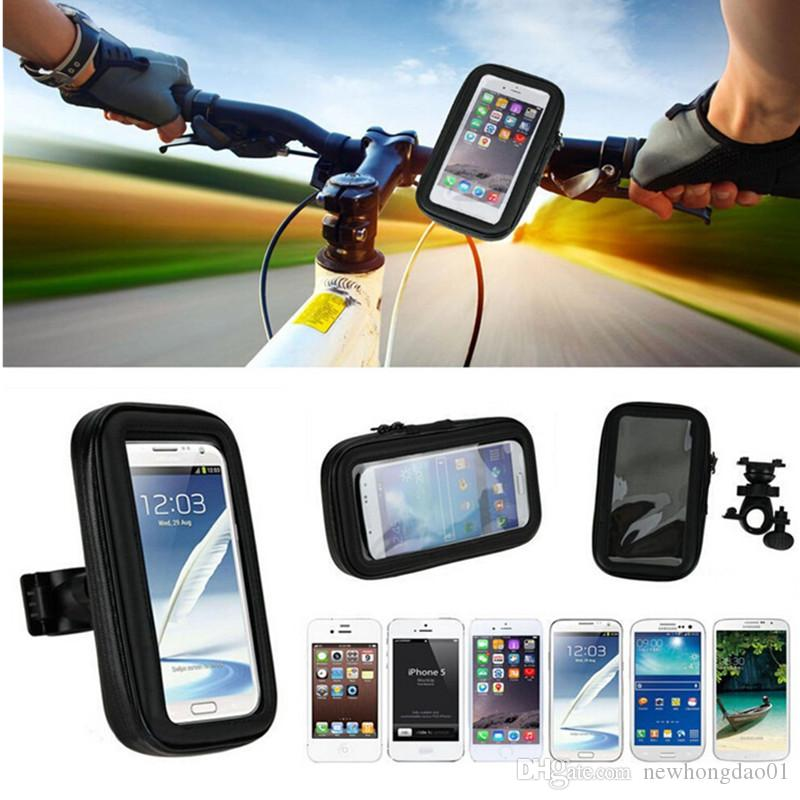 Waterproof 360 Motorcycle Bicycle Cycling GPS Case/Bag+Mount Holder for I6 6S plus GPS Smartphone S7 S6 S5 NOTE5 Note4
