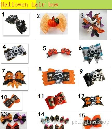 Big Sale Halloween Pet Dog Hair Bows bowknot hairpin head flower Pet Supplies Grooming Holiday Dog Accessories Y10