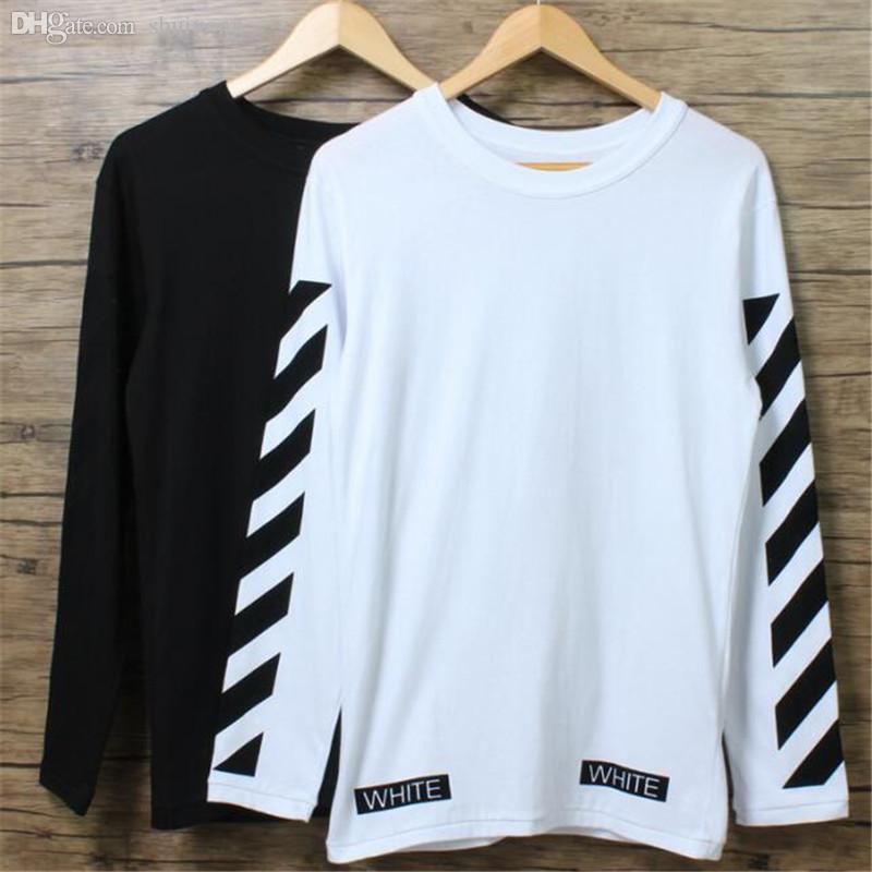 Wholesale Mens Long Sleeve T Shirt Off White Brand Fashion Outdoor ...