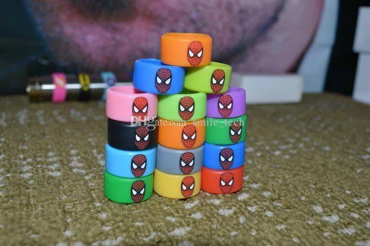 Silicone Vape Bands Tank Band for Ecig Mechanical Mods RDA RBA RTA Tank Rubber Decorative and Protection Resistance Ring with Spider-man