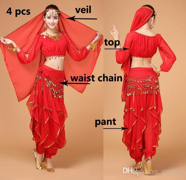 bfcb6b260 2019 Belly Dancing Clothes Bollywood Costume Indian Style For Women Long  Sleeved Shirt   Pants Wholesale Manufacturer MB002 From Morein
