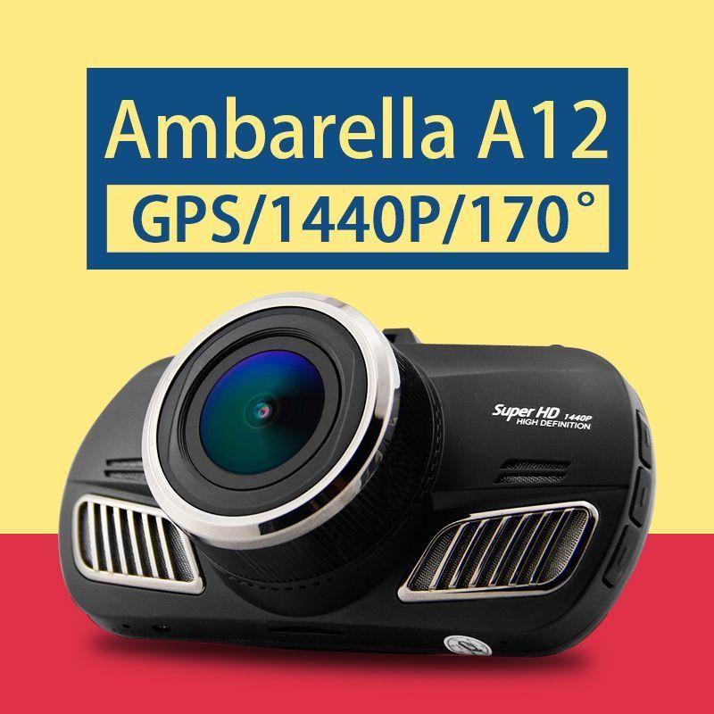Ambarella A12 Car DVR Super HD 1440P Car Camcorder GPS Black Box DVR 170  Degree View Angle Lens Night Vision Dash Cam D201