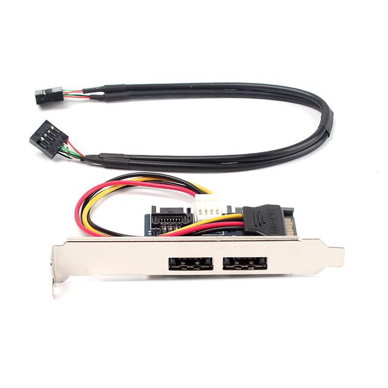 Wholesale Cool Dual Power Esata Esata+Usb 12v+5v To Dual Sata 2.0 ...