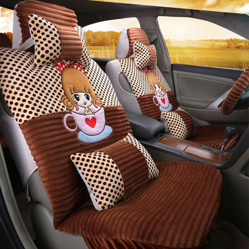Four New Car Seat Cute Cartoon Fashion Ladies Surrounded By Four ...