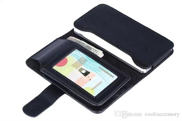 For iPhone 6 6S 7 Plus Samsung Galaxy S6 Edge S3 S4 S5 S7 5.5 inch Universal Wallet Leather Pouch Case Credit Cards Luxury Purse Bag