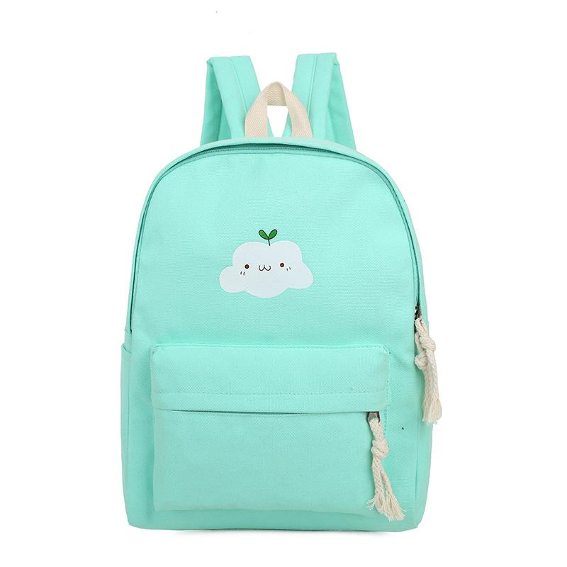 2017 Cloud Printing Canvas School Backpacks For Teenage Girls ...