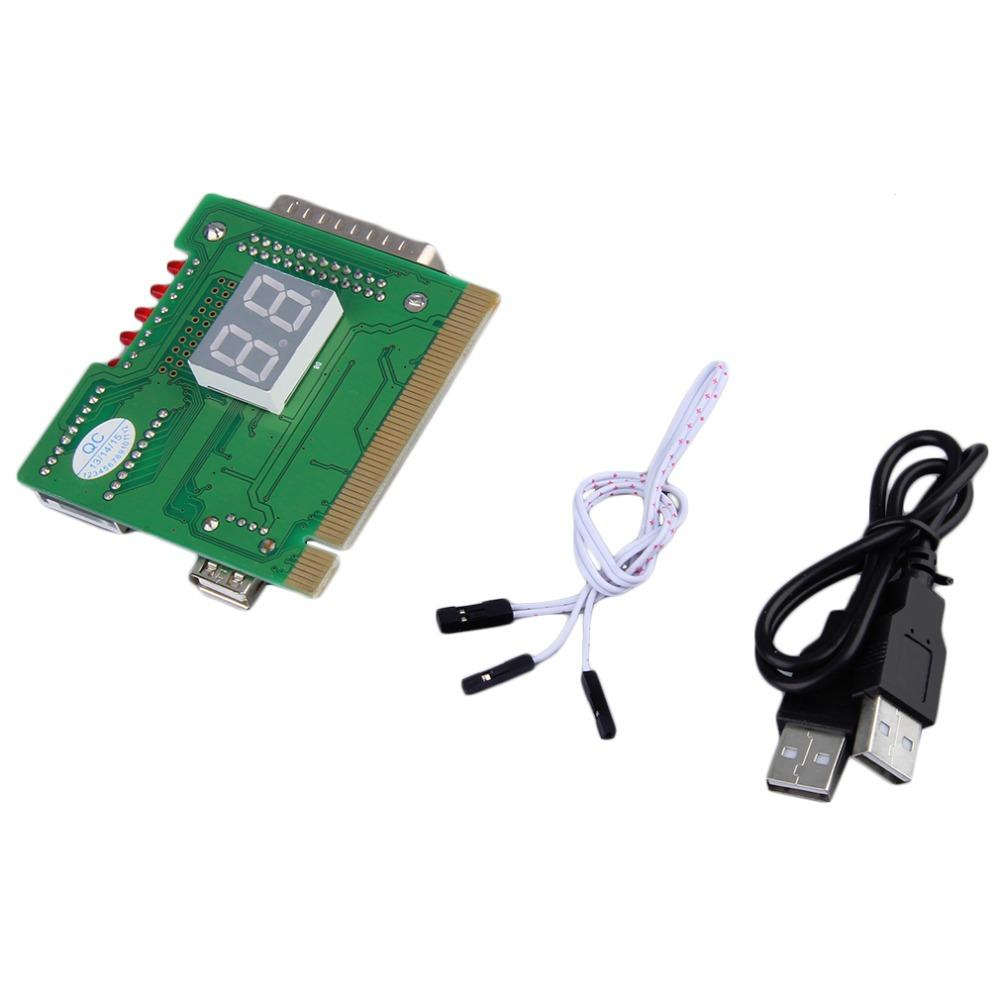 2-Digit USB PCI Motherboard Diagnostic Analyzer Test Card Laptop PC Desktop