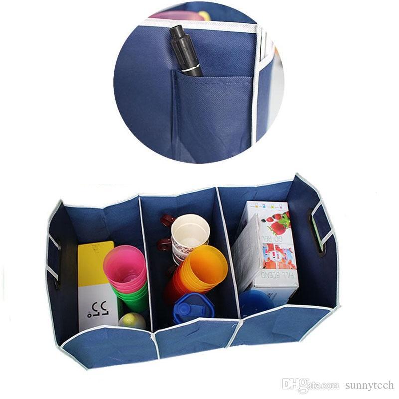 Zusammenklappbarer Kofferraum-Organisator-LKW-Fracht-tragbares Werkzeug faltender Aufbewahrungsbeutel-Kasten-Auffüllungs-Korb-Material ZA1354