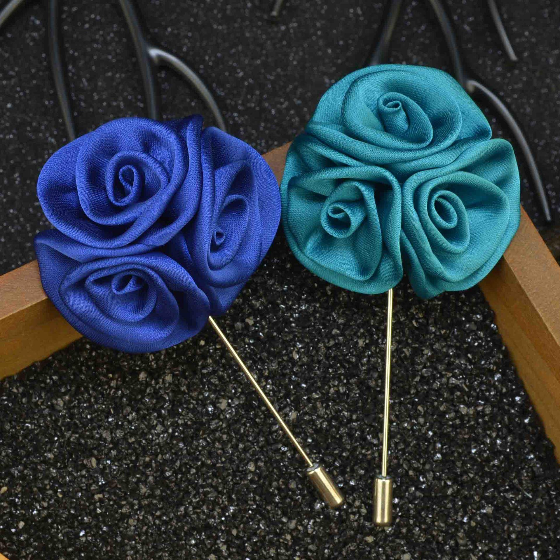 2018 2017 Silk Rose Flowers Brooch Lapel Pins Fashion Handmade