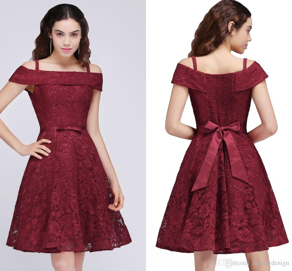 c68449be7 New Arrival Cheap Junior Bridesmaid Dress Off Shoulder A Line Full Lace  Party Dresses For Girls 2017 Homecoming Dresses CPS695 2015 Short  Homecoming Dresses ...