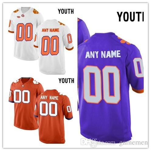 966f5b157d8 2019 Custom Clemson Tigers Youth College Football Jersey Customized Name  Number Embroidery Personalized Kids Jerseys From Gamemen, $22.8 | DHgate.Com