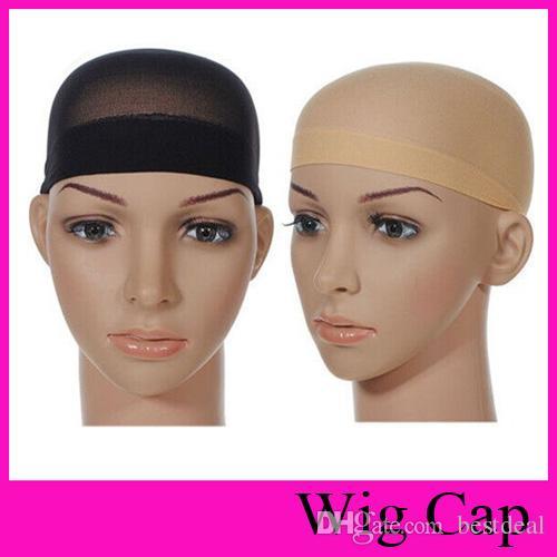 3de7c0d285f Unisex Sock Type Net Cap Wig NET Hat Stocking Wig Liner Cap Snood Nylon  Stretch Hairnets Mesh Wig Accessories Tool Coat Pocket Handkerchief Red  Silk ...