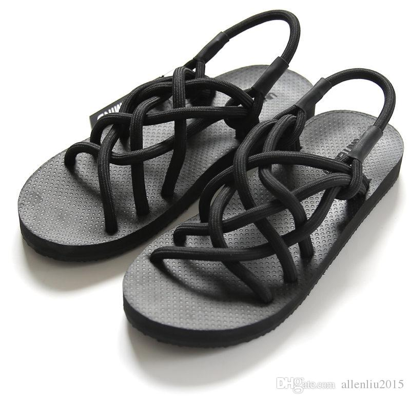 6ac46161709c91 2016 New Japanese Woven Sandals Summer Male Personality Tide Korean Men And Women  Couple Slippers Sandals Roman Shoe Foot Walking Sandals Sandals From ...