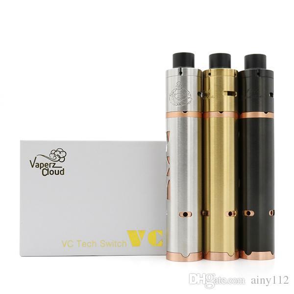 Vaporizador VCM V 2 Kit Mod Clone VCM V 2 Mecânica Mod com Fat Buddha RDA Para 18650 Caixa de Bateria Mods VCM Mod E Cigarros Mods DHL livre