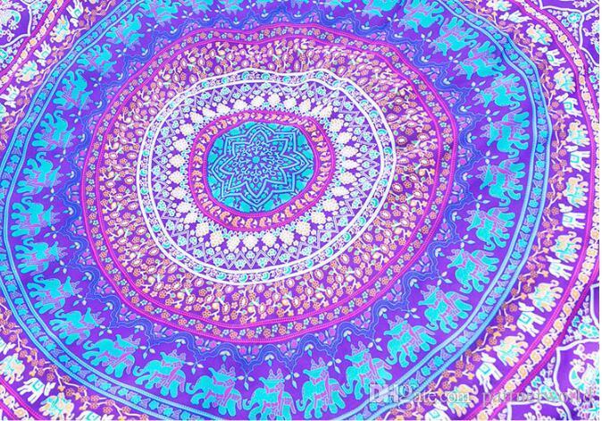 جولة ماندالا بيتش 4 أنماط المناشف المطبوعة نسيج الهبي بوهو سماط البوهيمي الشاطئ منشفة المائدة يغطي الشاطئ شال التفاف اليوغا حصيرة