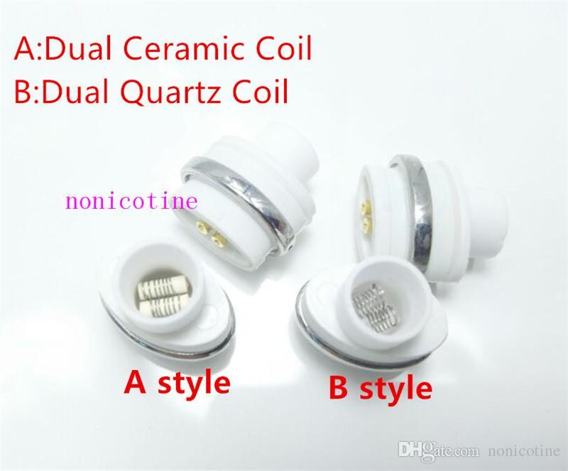 Micro G Elipe Atomizer Dual Quartz Coil Head Ceramic Rod for Elips Wax pen Micro Gpen Double Coil Rod E Cigarette Atomizer