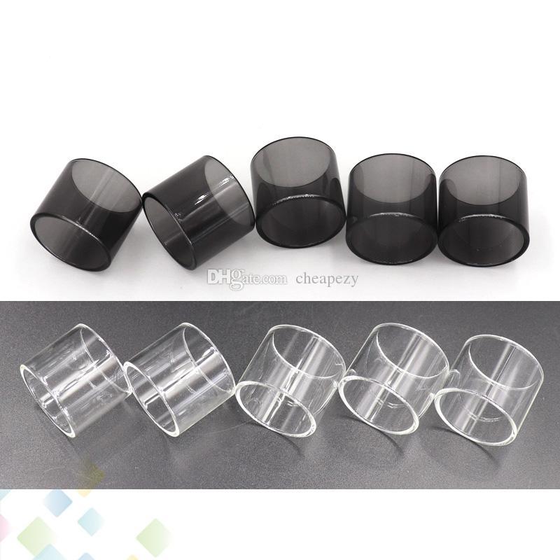 Clear Black TFV8 X-Bebê Substituição Pirex Tubo De Vidro 4 ml para TFV8 X BABY Atomizador Tubo De Vidro Tubo de Substituição Da Tubulação DHL Livre