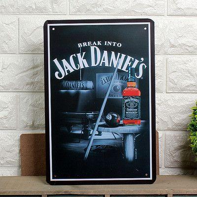 Placas de lata retro antigo do metal do ferro do vintage famoso vinho whisky Jack Daniel parede decoração placa da arte da pintura pub doação de bar
