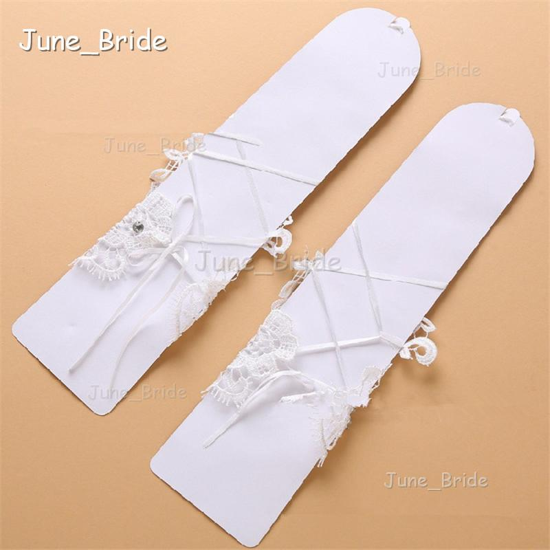 New Crystal Lace Bridal Glove Wedding Prom Party Costume Long Gloves Fingerless Elbow Length High Quality Bridal Accessories Best Price