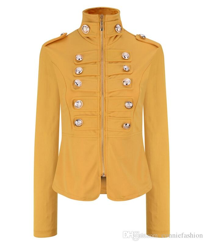 6d80ef611 2017 Autumn Women s Hot Design Double Breasted Zipper Coat Fashion ...