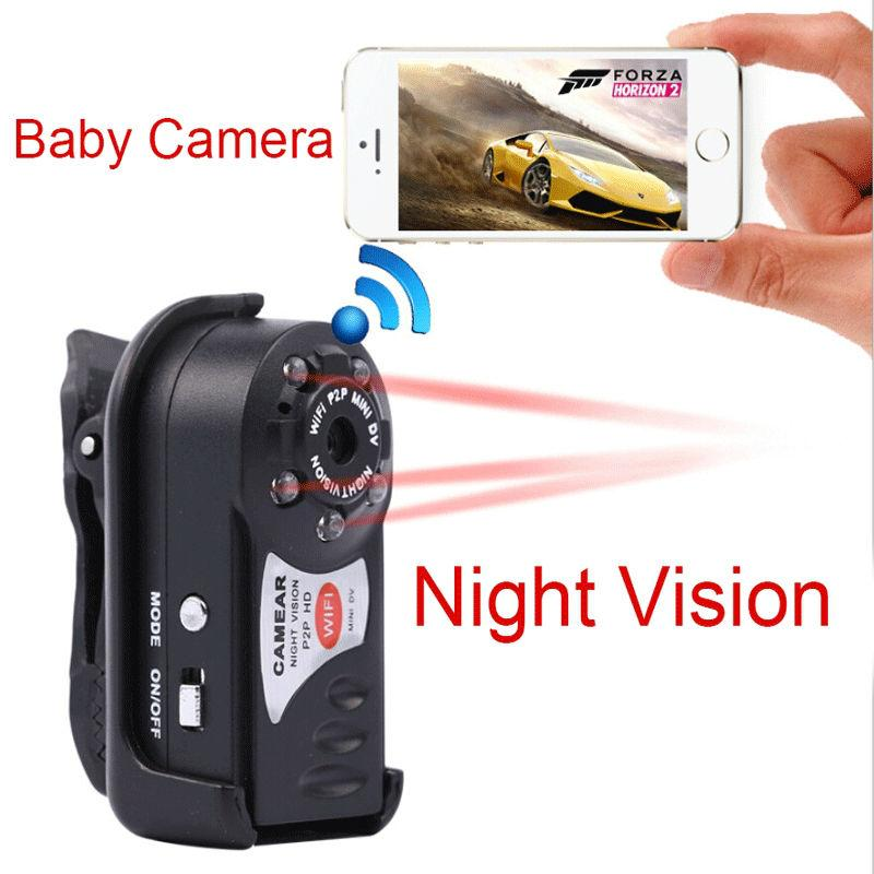Mini Wireless Hd Wifi Ip Camera Q7 Surveilliance Camera Video Cam Recorder IR Night Vision for Iphone Android Phone Tablets Mini Car DVR