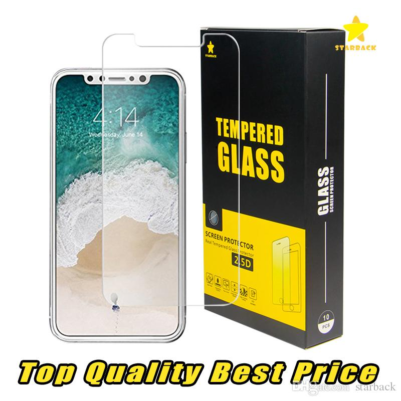 For Iphone 8 Plus iPhone X 7 Plus TopQuality BestPrice Tempered Glass Screen Protector 0.2MM 2.5D Ship Out Within 1 Day