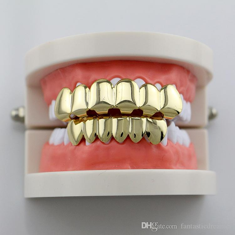 BUY 1 & GET 1 FREEsingle cross grillz Fangs Teeth Grillz Smooth Tooth Accessory Teeth Grillz Cheap Hip Hop Tooth Set