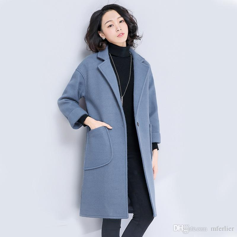 06c6d874597 2017 Winter Autumn Coats for Women Lapel Neck Keep Warm Outerwear ...