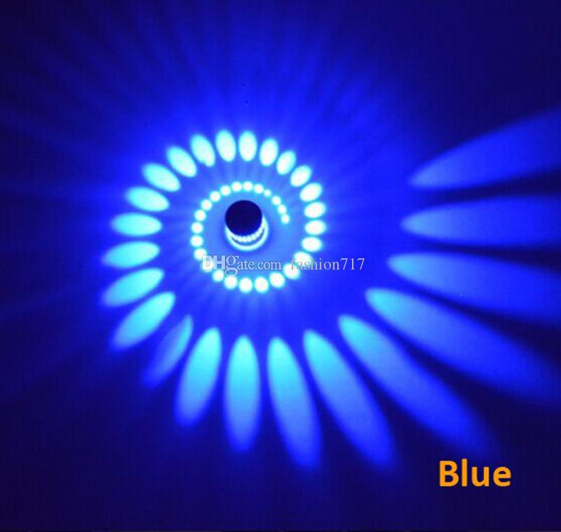 Moderna 3W LED Lámparas de pared 110V / 220V es KTV Karaoke Bar Decoración Espiral Sconence Techo Luz Living Roome Shop Coffe B1486