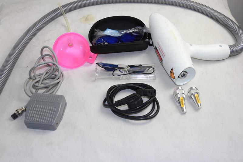 Hot-selling Q-Switch ND YAG laser eyebrow removal eyebrow washing machine tattoo remover eyeline lipliner remover black doll skin whitening