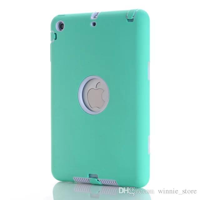 Für iPad Mini 1/2/3 Retina Kinder Baby Safe Rüstung Stoßfest Heavy Duty Silikon Hard Case Cover Displayschutzfolie + Stylus Pen