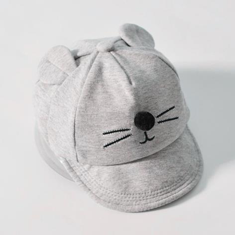 wholesale New Baby Hat with Cartoon Cat design Kids Baseball Hat Boy and Girls Sun Hat Summer Cotton Mesh Caps Girls Visors