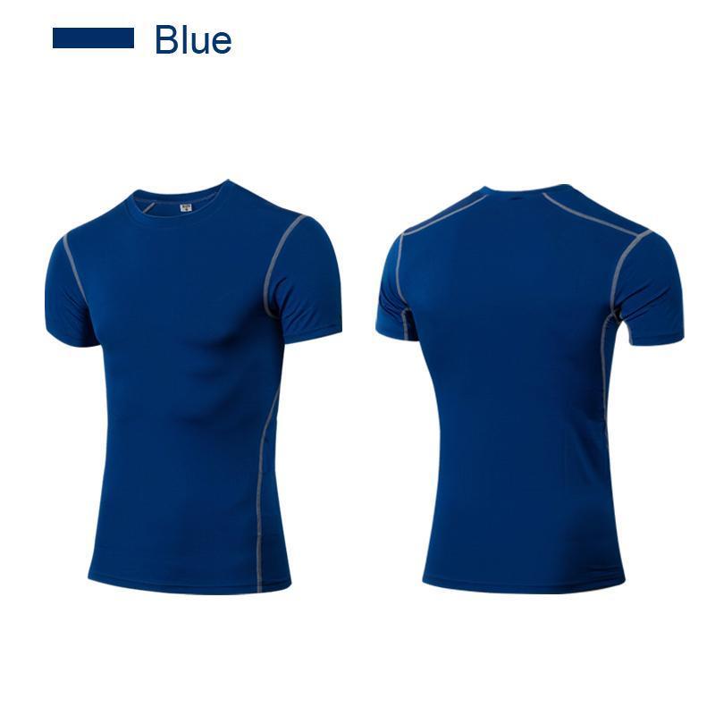 Мужские футболки Dry Fit Tops Running Apprael с коротким рукавом XXL Мужчины Compress Tee Тренажерный зал, дышащая одежда