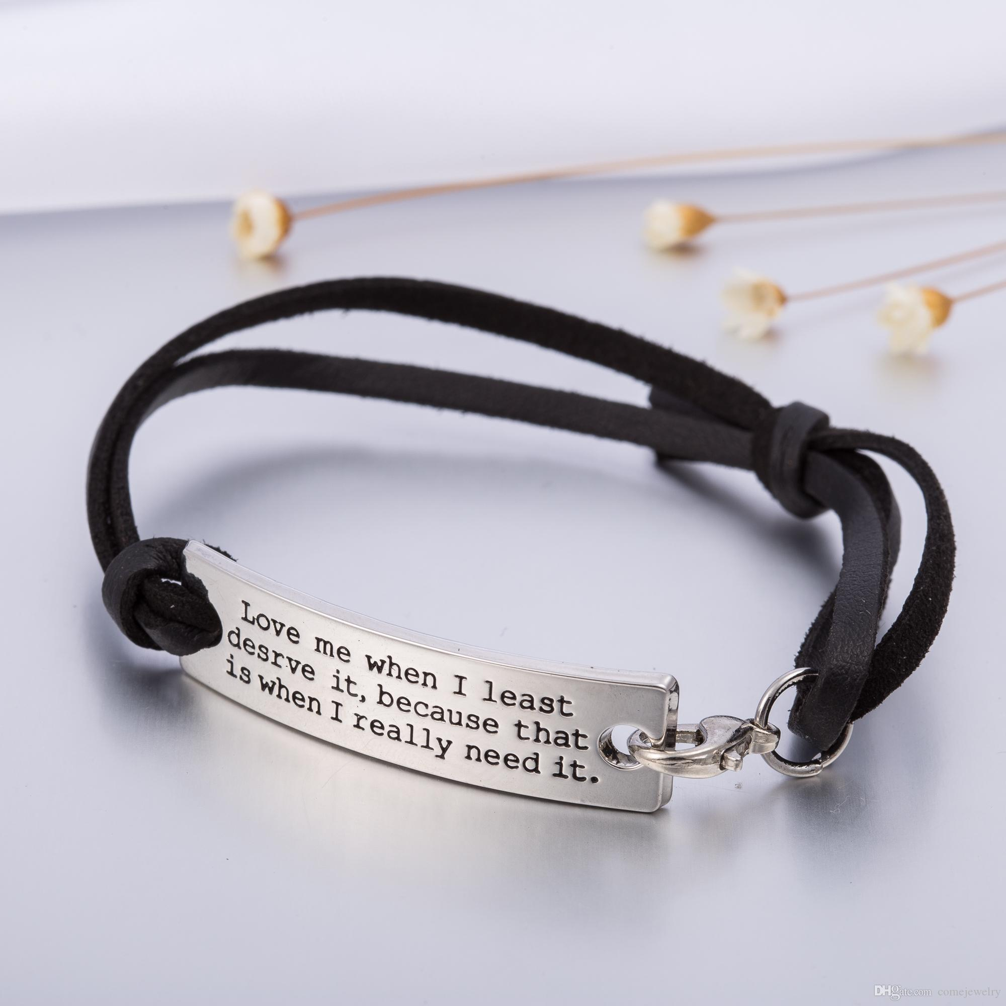 inspirational fullxfull know quote your leather heart message loved are bracelet in listing zoom you il