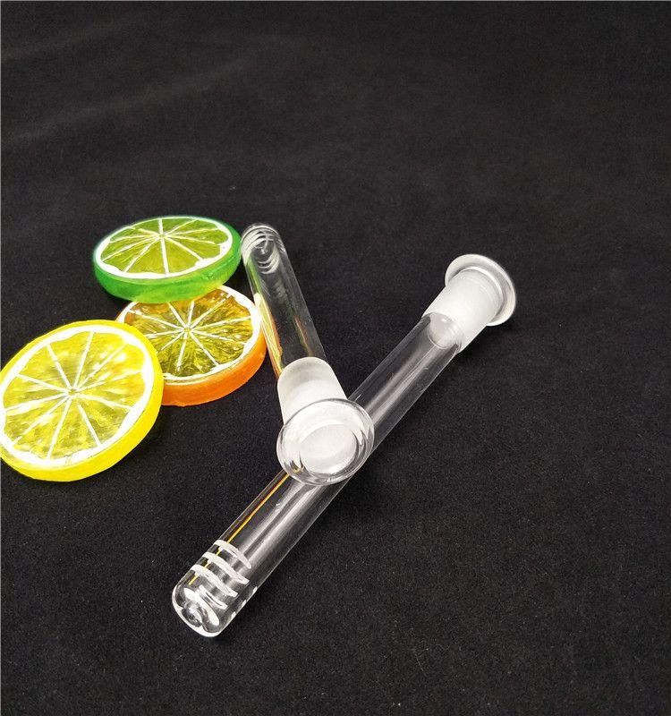 Bongs Glass Down stem Pipe 14mm Female 12cm 14cm Thick Diffuser Glass Pipes Bongs Glass Downstems