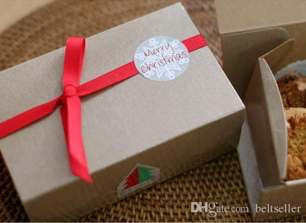 """1.4"""" round shape Merry Christmas white snow stickers for gift packaging lables wedding sticker label xmas decorative sticker"""